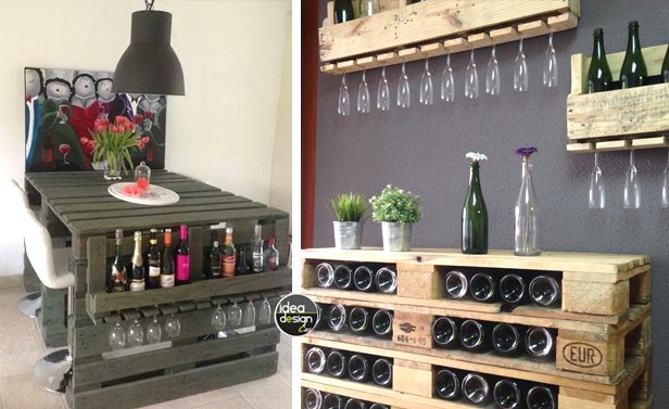 Ideadesign casa on twitter angolo bar con pallet ecco for Arredamento rustico italiano