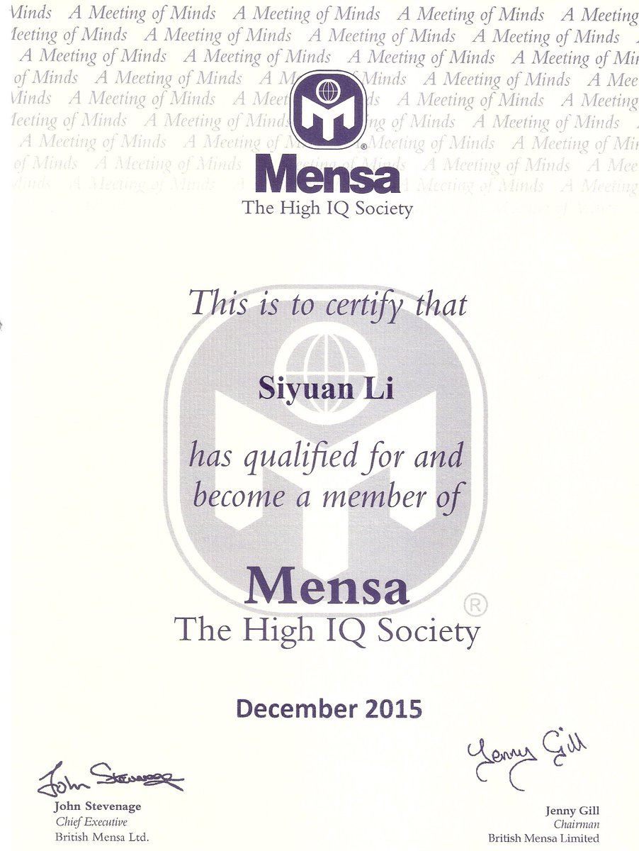 Tweets with replies by rickmandy qirick twitter bbc congratulations to our sons siyuan li 13 and sida li 10 become mensa members iq scores 161 and max 162picitterw0pabcyyzx 1betcityfo Images