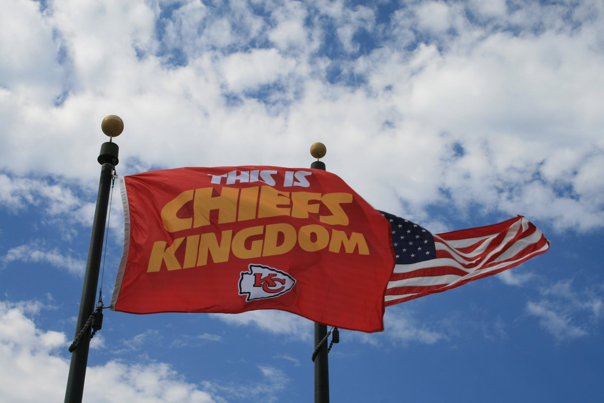 We're waving the flag to cheer on the @Chiefs to victory for #KC! Go #Chiefs! #ChiefsKingdom https://t.co/Ik6OwMQak4
