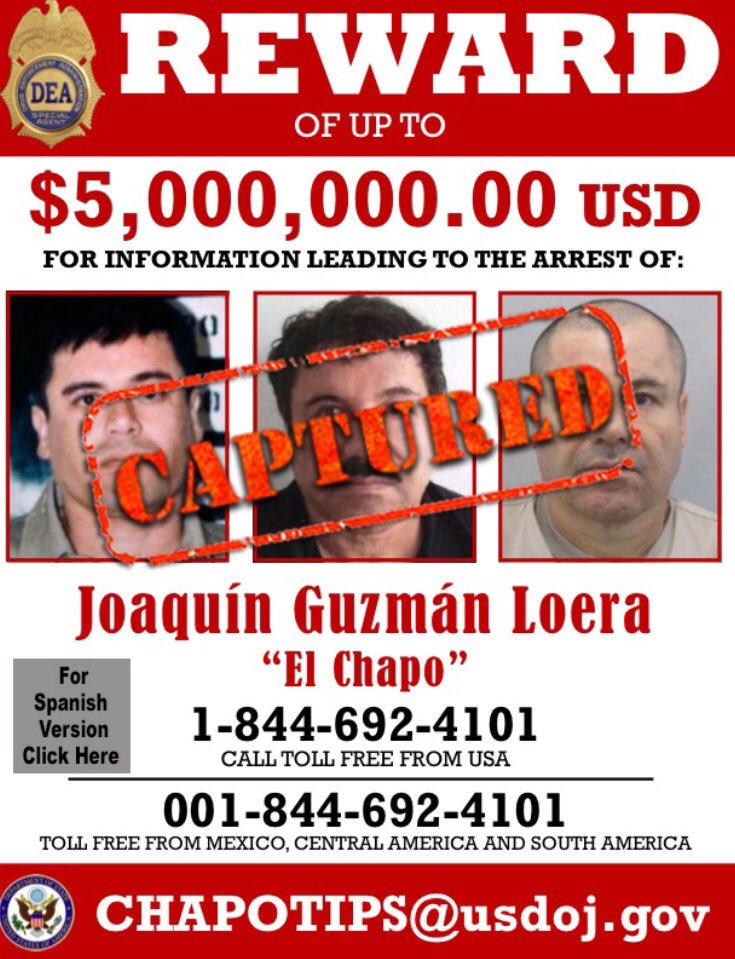 DEA Amends Wanted Poster For ElChapo No Word On Whether