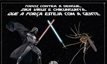Prefeitura de Ribeirão Preto, SP, faz confusão e põe Aedes aegypti no 'lado bom da força' https://t.co/j8vDYVx3Vq