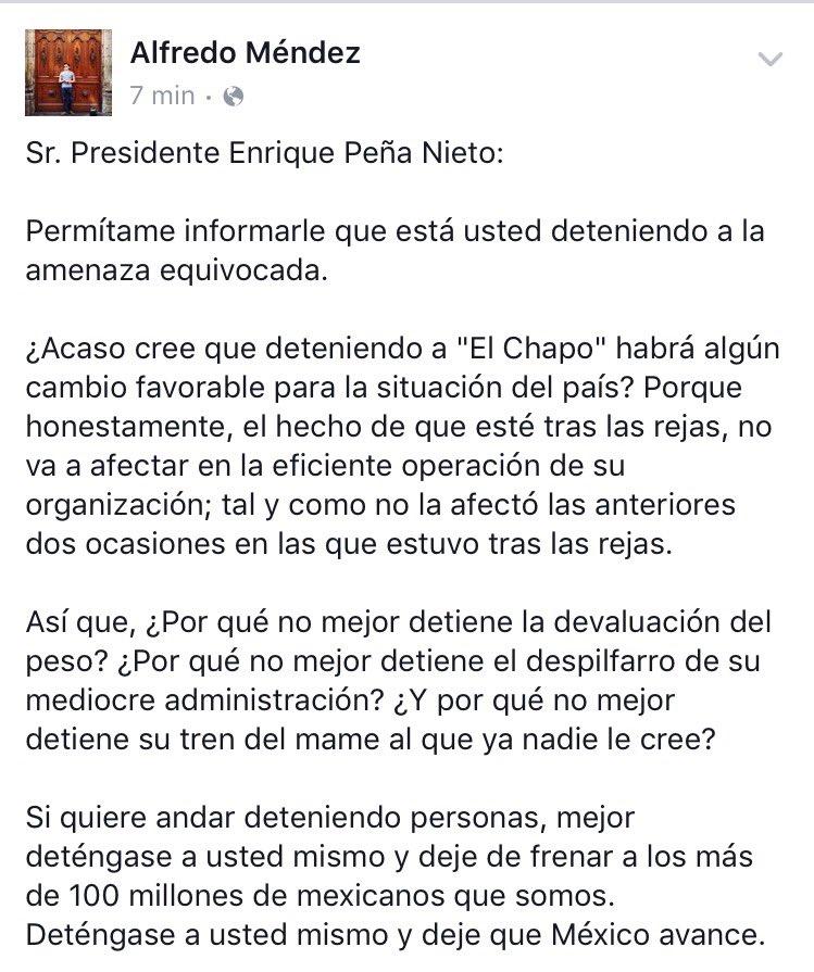 El problema no es el Chapo. @epn https://t.co/iHgvEClqCN