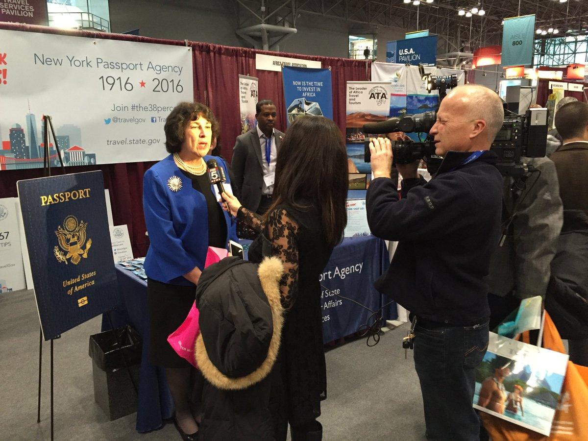 State Deptu0027s Dep Asst Secretary Brenda Sprague Interviewed By @fox5ny  At The NY Times Travel