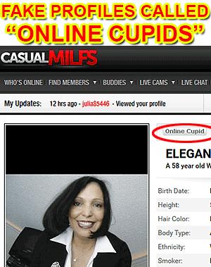 online cupid fake
