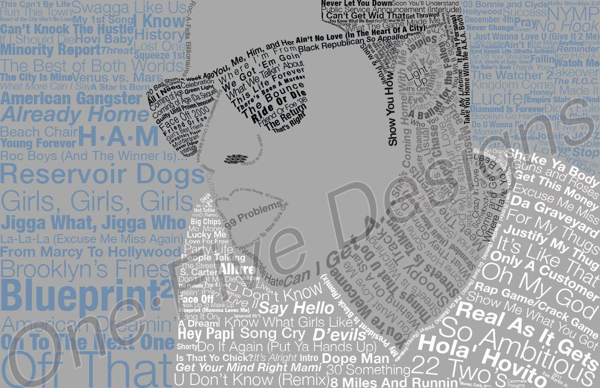 Dan martin jr on twitter artwork inspired by jay z not one dan martin jr on twitter artwork inspired by jay z not one repeated song title jayz rocnation typography art wordcloud httpsthwxtpqstb8 malvernweather Choice Image