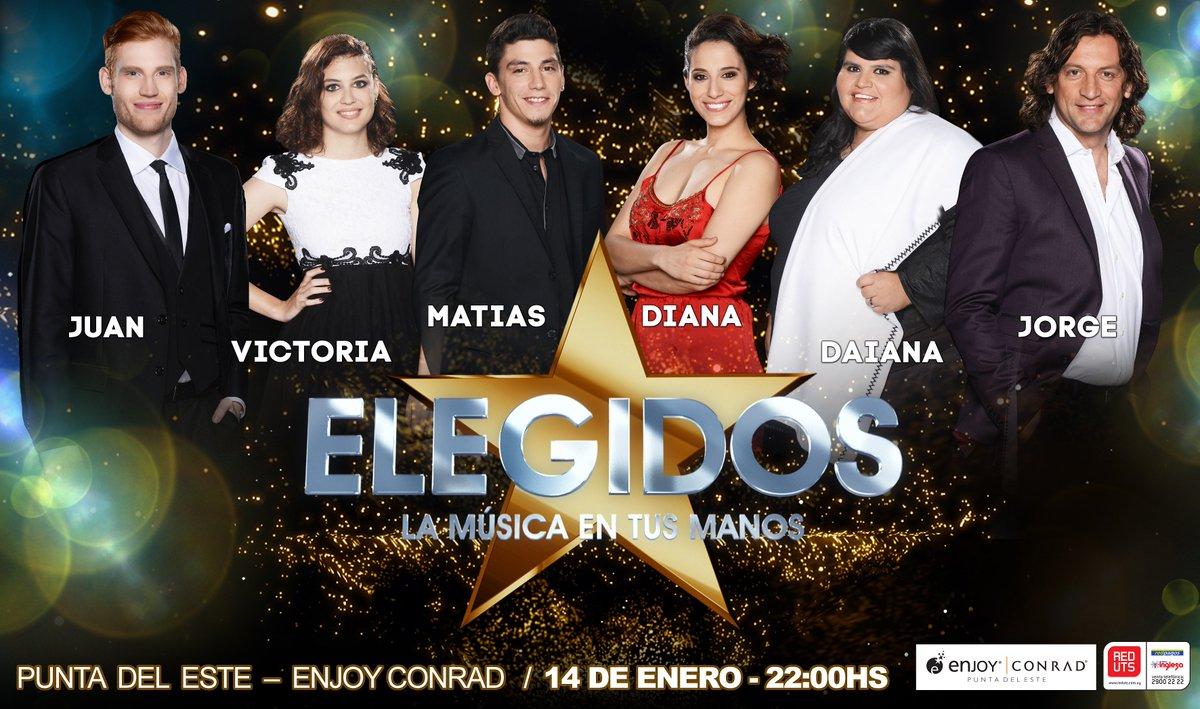 El ganador de #Elegidos y los que ya son furor, juntos en un show imperdible. 14/01 Hotel Conrad, Punta del Este. https://t.co/GpYWnNxSTF