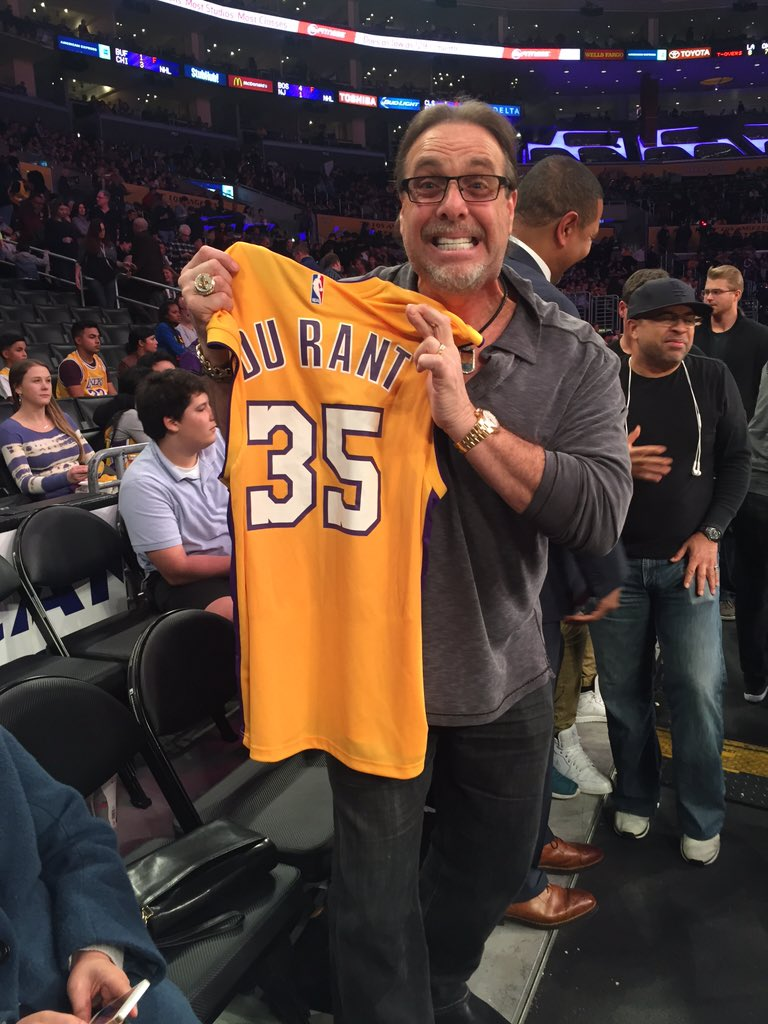 b0e1aa749 The Lakers GIF dude had a Kevin Durant Lakers jersey at today s game ...