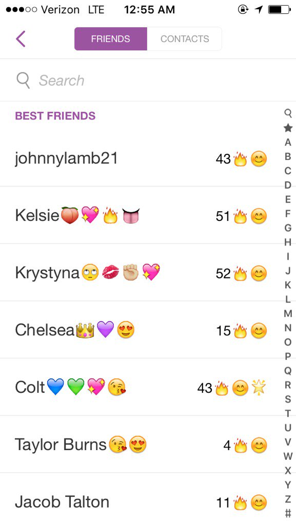 What are streaks on snapchat