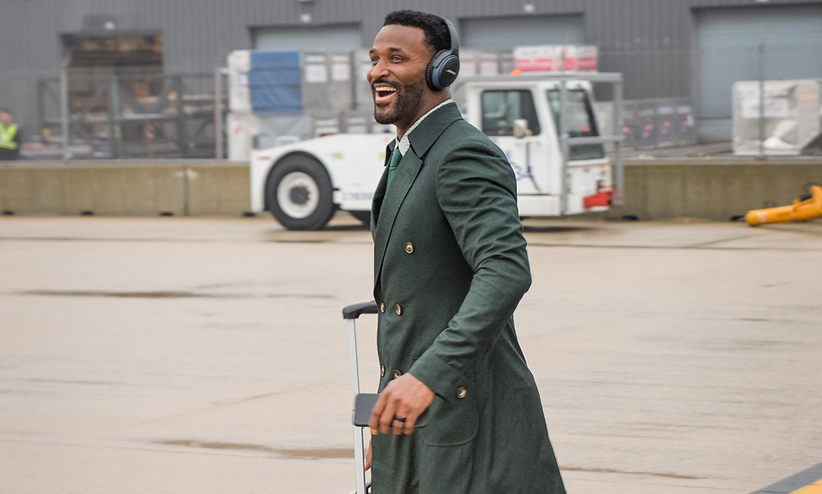 JJ ready for the playoffs.   #GBvsWAS #PackersBusinessTrip https://t.co/c4Rs9MgmWe