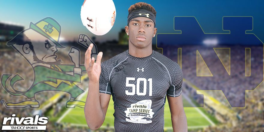 BREAKING: Rivals100 WR Javon McKinley has committed to #NotreDame.   Free Story: https://t.co/oEDjF1xF17 https://t.co/B1mYfqLeog