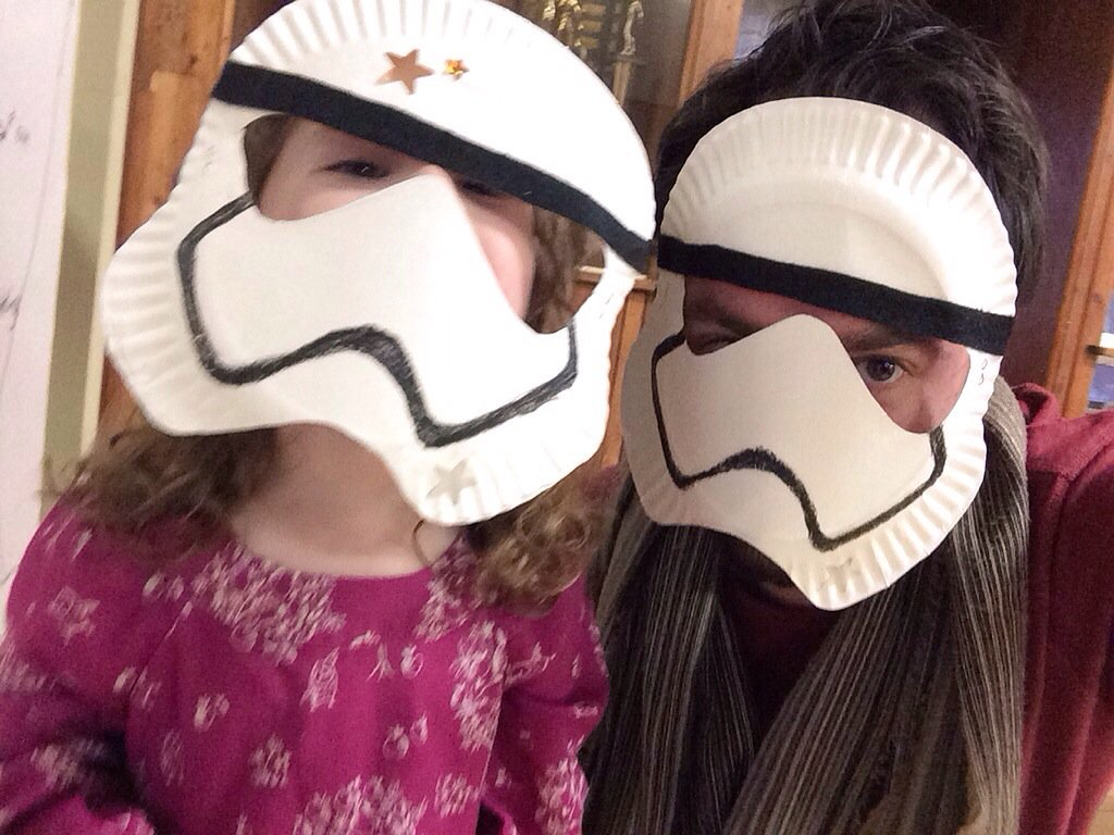 Michael Raisch on Twitter \ Noted Apparently paper plates make killer Stormtrooper masks at kid birthday parties. @GeekDads //t.co/hhlgovJ2EP\  & Michael Raisch on Twitter: \
