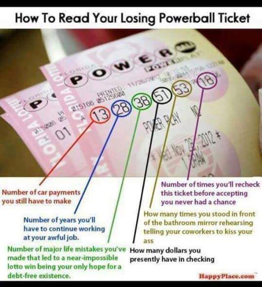 How to read your losing Powerball ticket ... https://t.co/cpZ5hi5OpK https://t.co/n5EGeeeU8d