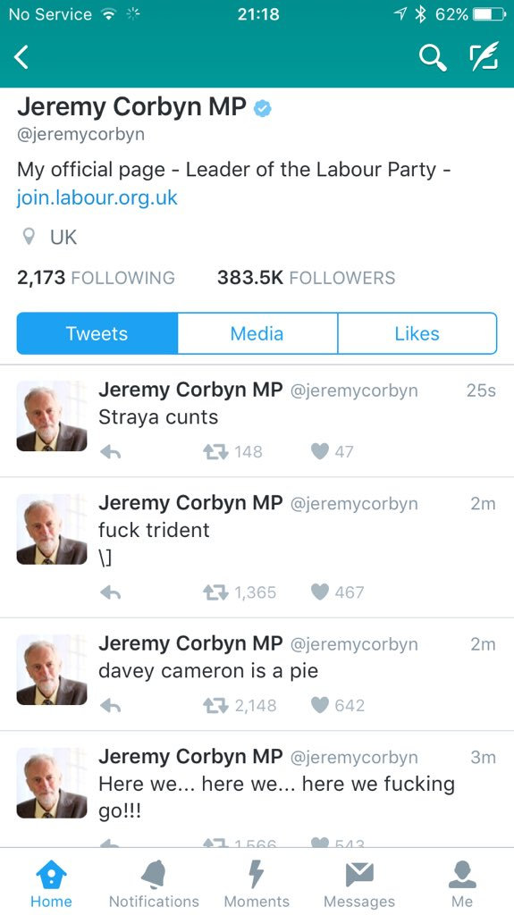 If someone *hasn't* hacked @jeremycorbyn's account, this is a bold new direction https://t.co/LPnD3JVl12