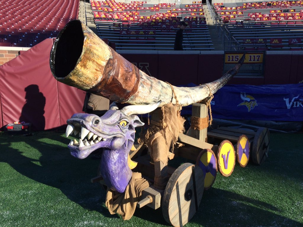 The original #Vikings #Gjallarhorn from the old Metrodome is out now.