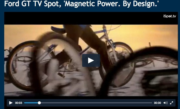 Anyone Else Think This Ford Gt Commercial With The Kids On The Bikes Is Weird Www Ispot Tv Ad Azqf Ford Gt Has Magnetic Power By Design