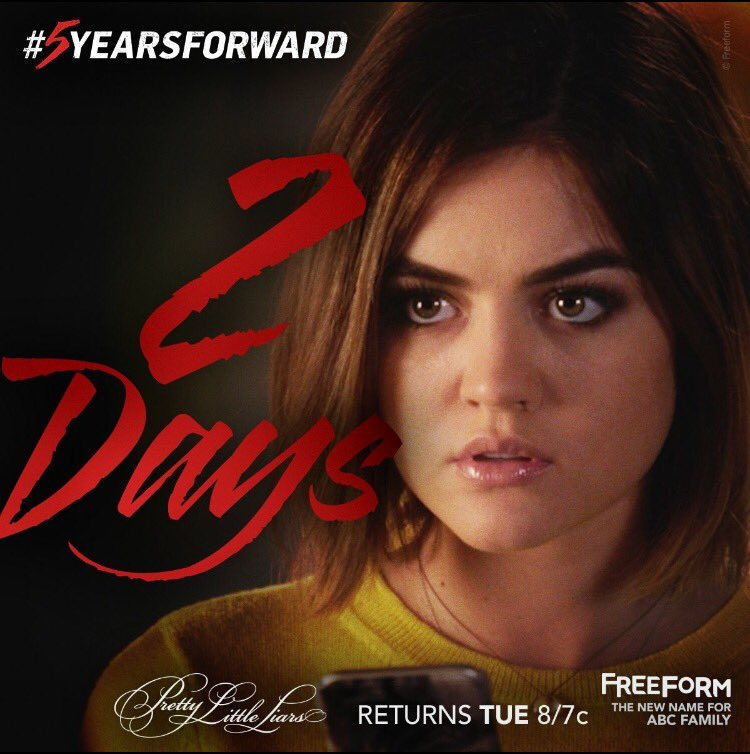 We're so excited to see our Brand Ambassador @lucyhale in @PLLTVSeries on Tuesday! #5YearsForward https://t.co/3OAyEQT4q2