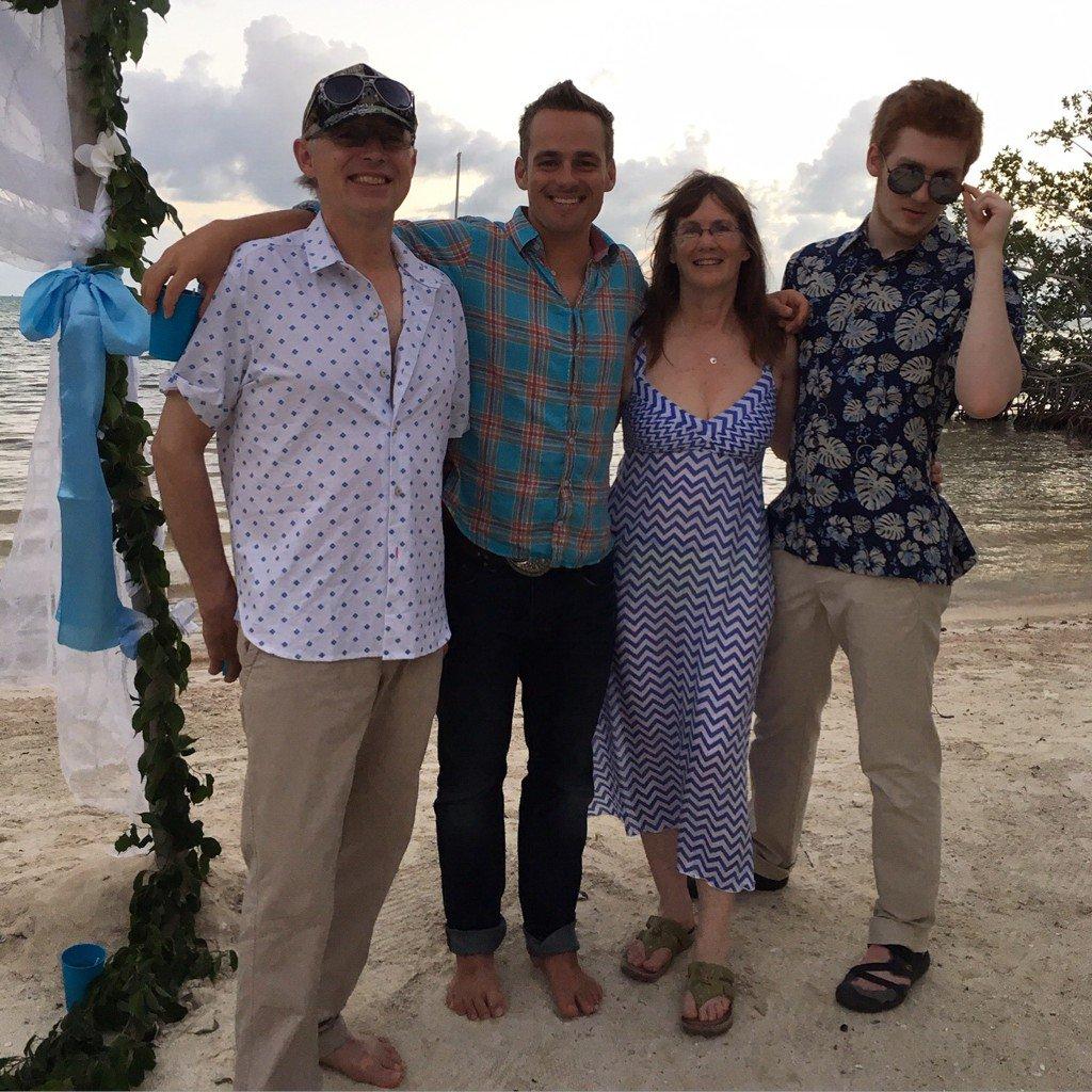 """Charlotte Kilcher on Twitter: """"Fun at my son @TorreyShort & Dana's Belize  wedding with @OttoKilcher, @NikosKilcher & @August_Kilcher in December.  https://t.co/6PB9ydY34F"""""""