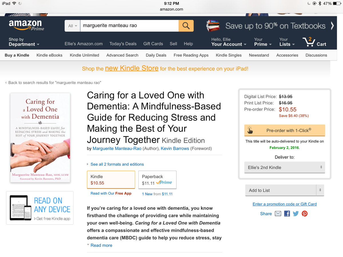 U can now order a copy of 'Caring for a Loved One With #Dementia' on Amazon! https://t.co/7dqVKwv5XF @newharbinger https://t.co/jM52a4RAto