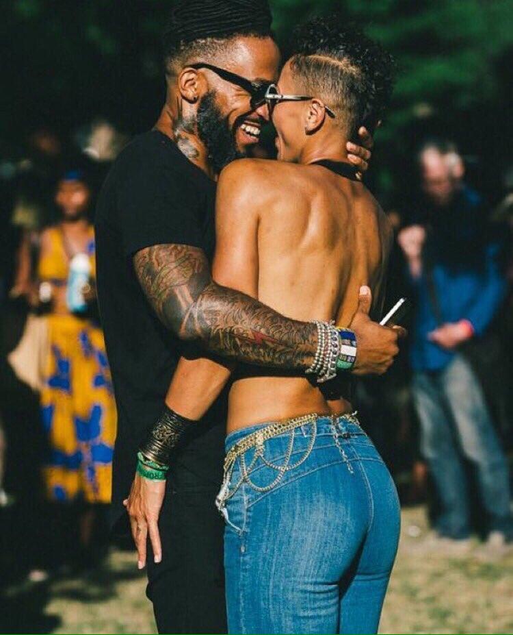 Black couples making love