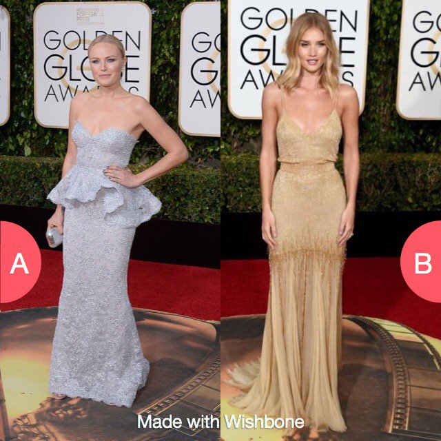 Which metallic look on the red carpet? #GoldenGlobes #RedCarpet #Fashion https://t.co/44wMpRsu1x https://t.co/m9LgiVadk2