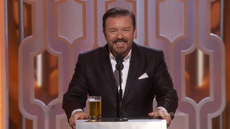 """I am going to to do this monologue & then go into hiding. Not even Sean Penn will find me."" - Ricky. #GoldenGlobes https://t.co/FhO6UAgZxO"