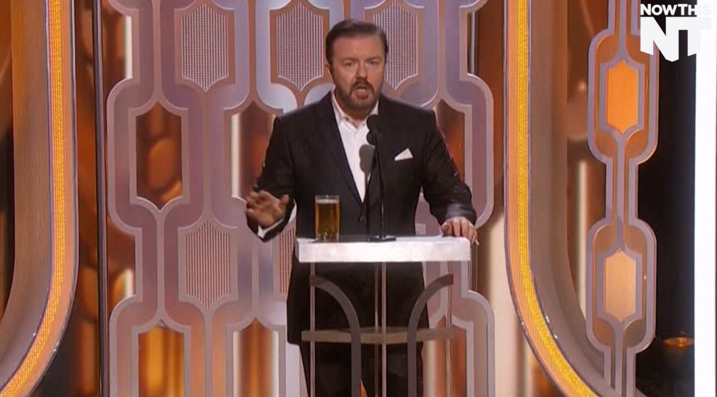 Ricky Gervais has managed to make about 6 transphobic jokes in the first 4 minutes of this telecast #GoldenGlobes https://t.co/khUf6x44km