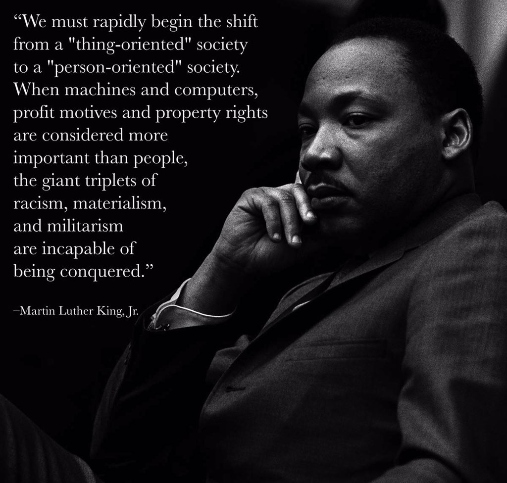There are a lot of MLK quotes I love, but this one has lately seemed most germane. https://t.co/3235NSMref