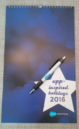 Congratulations @Salesforce for 10 years #appexchange and thank you for the app-inspired calendar and pen! https://t.co/RrRSusKOrD