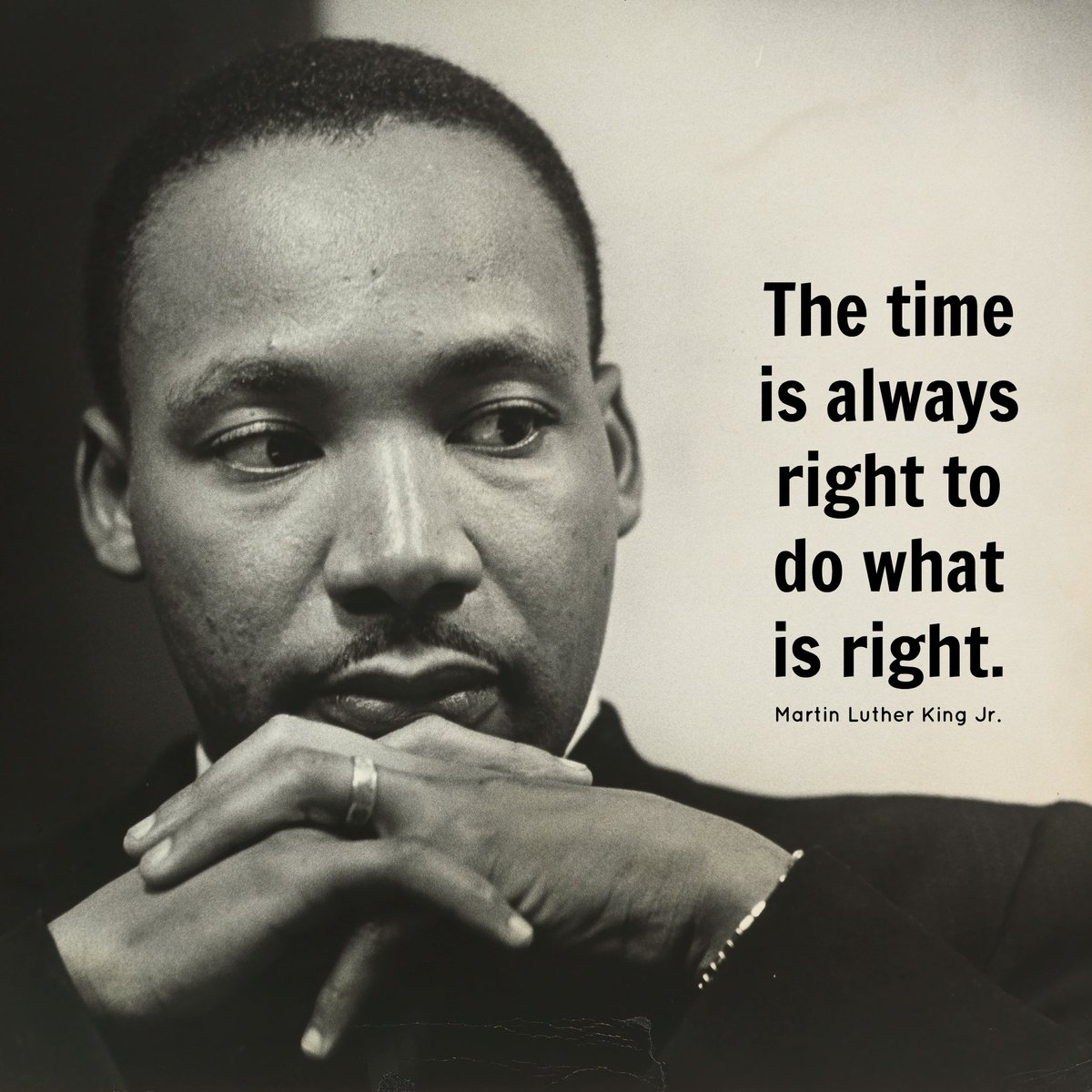 """What Is Martin Luther King Famous Quote: Martin Luther King On Twitter: """"""""The Time Is Always Right"""