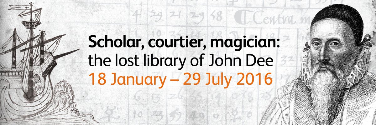 'Scholar, courtier, magician: the lost library of #JohnDee'. Mon-Fri, 9am-5pm, to 29 July. https://t.co/qiZIJWMwat https://t.co/AZOgAENGEt