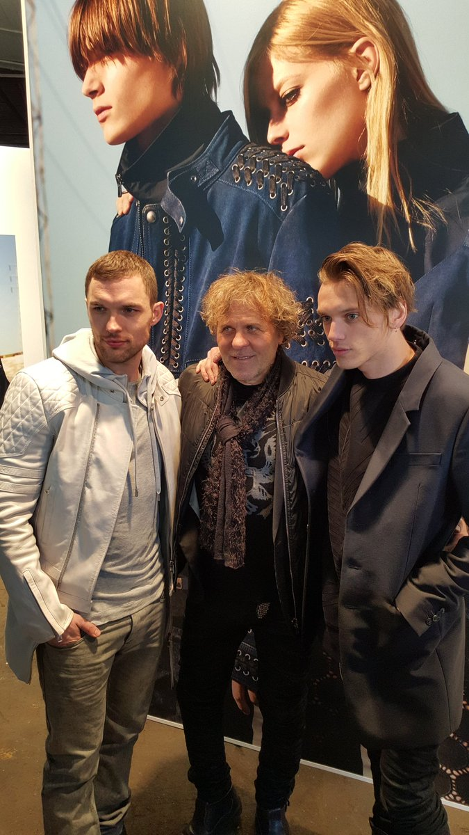 Great show and happy with my friends Ed Skrein and Jamie Campbell Bower @edskrein @Jamiebower #dieselblackgold