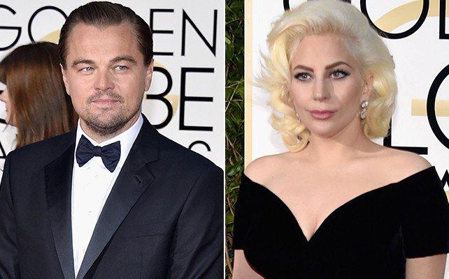 Leonardo DiCaprio e Lady Gaga