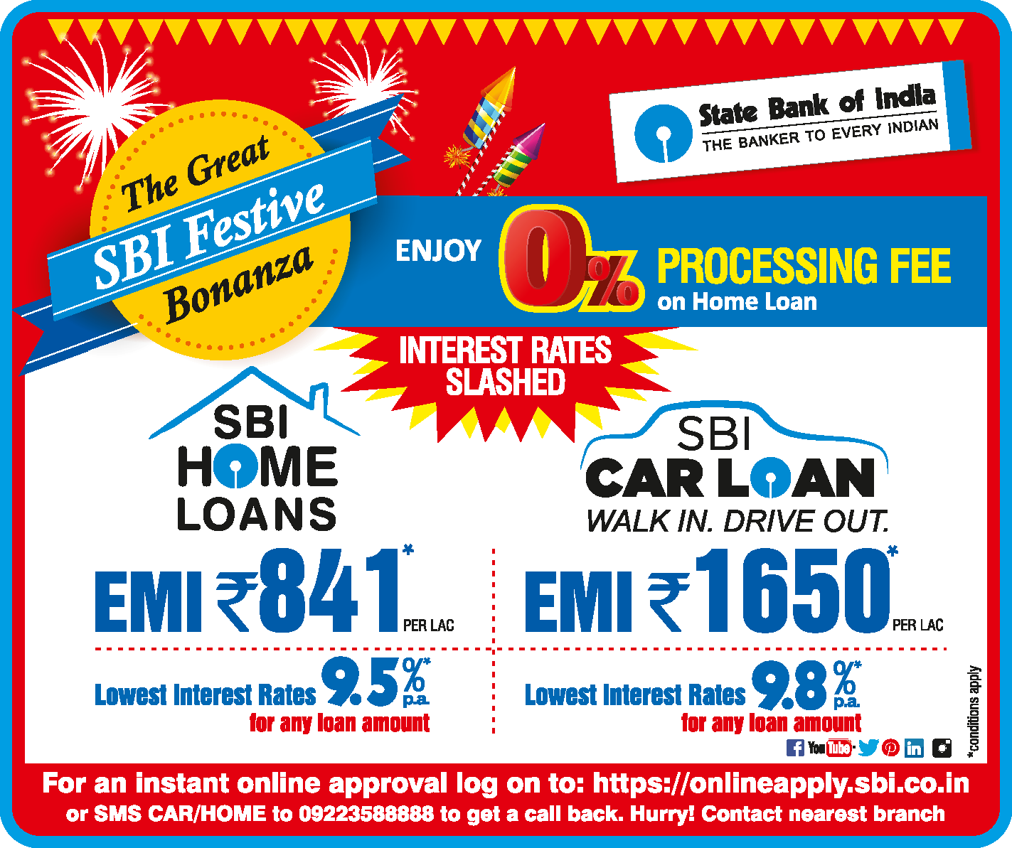 State Bank Of India On Twitter Enjoy Reduced Interest Rates On