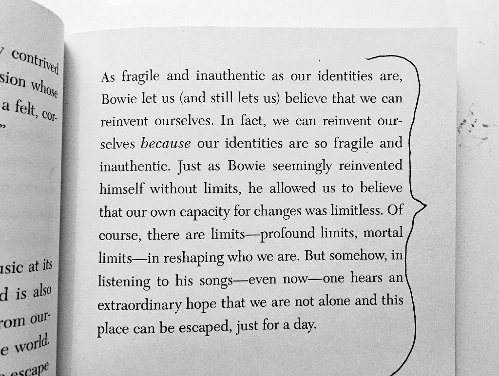 "From Simon Critchley's book on Bowie: ""...one hears an extraordinary hope that we are not alone..."" https://t.co/BaJEzsOGXP"