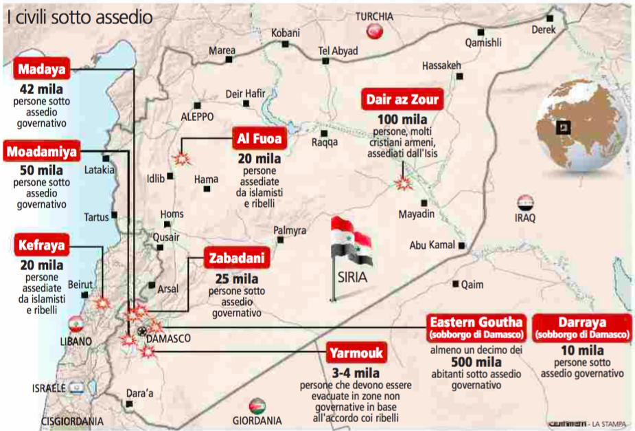 #DailyMap 11/01 Non solo #Madaya su @la_stampa tutte i centri sotto assedio in #Siria da #Zabadani a #Yarmouk https://t.co/G9lqfe3mSU