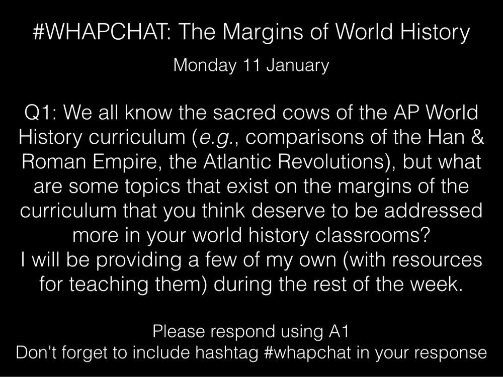 Thumbnail for #WHAPchat: Margins of World History