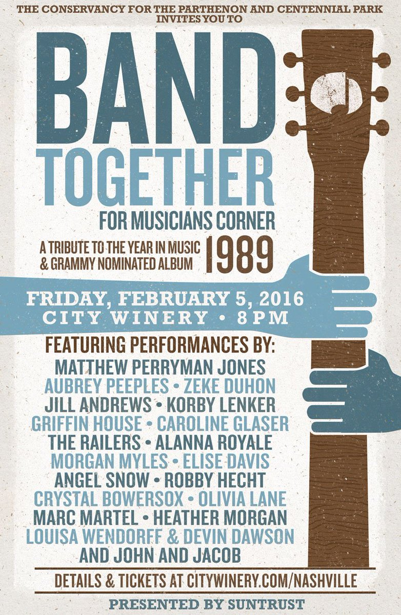 The lineup for BandTogether1989 covering @taylorswift13 album & the year in music. Tickets https://t.co/hXqalJuoDM https://t.co/5ugbi8nJbI