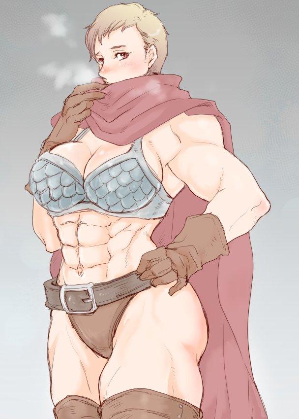 久しぶりの筋肉女子ラクガキ。 筋肉あってもビキニアーマーは寒いんじゃないかしらね。 https://t.co/dzDLT5KItw