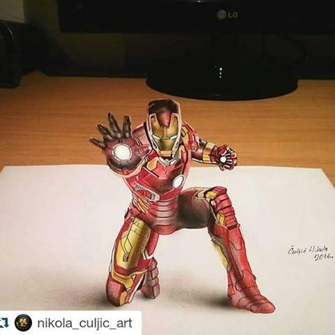"""ArtForGeeks AG on Twitter: """"3D Ironman . . . #ironman # ..."""