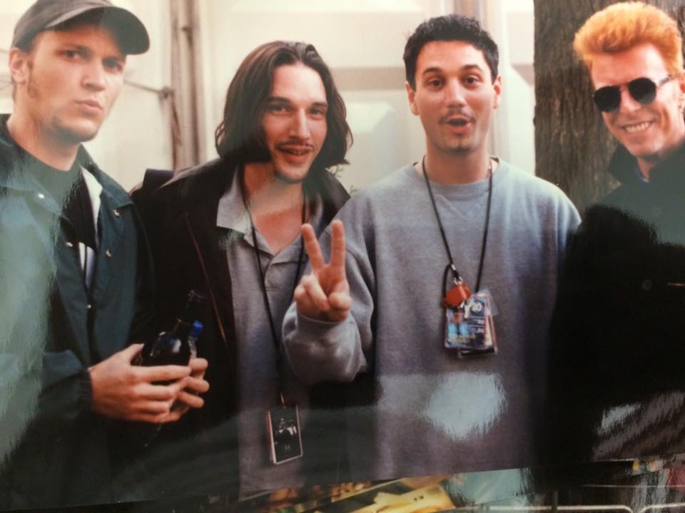 Late 90's w/ the @funlovincrims @BrianFastLeiser #SteveO @OfficialHuey from SteveO's FB page! #RIPDavidBowie #love https://t.co/eUVrM4JhDh
