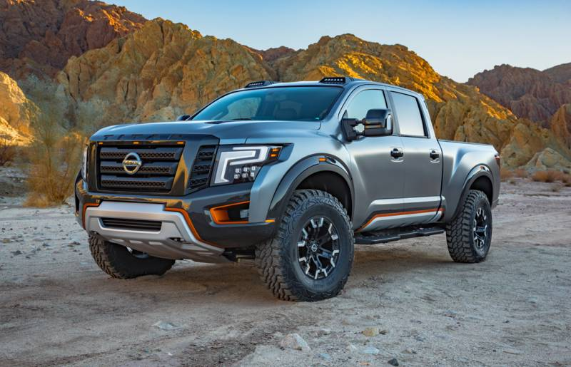 Ford F 150 Raptor Drivingca Auto Shows Detroit Show Nissan Toughens Up Titan Xd With New Warrior Concept