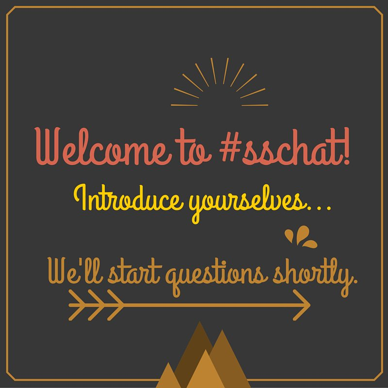 Welcome to tonight's #sschat! The first question will be posted shortly. https://t.co/Gd4xWEA2WE