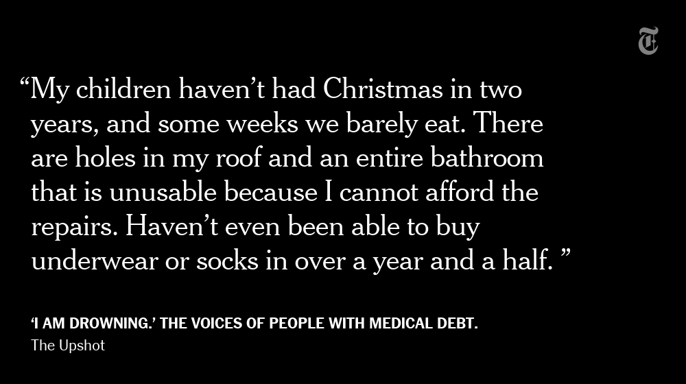 Struggling with medical debt even though you are insured? You are not alone. Many voices: https://t.co/fVSHTf6AY3 https://t.co/jPW35aMECr