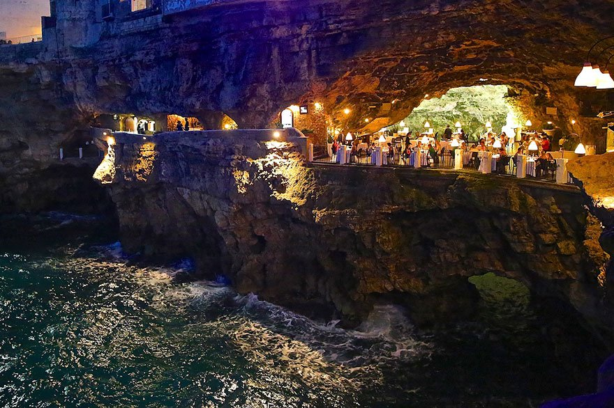 Sobore On Twitter The Grotta Palazzese Hotel Restaurant Is Set In A Limestone Cave Polignano Mare Southern Italy Travel Https T Co 9ikkfb2xje
