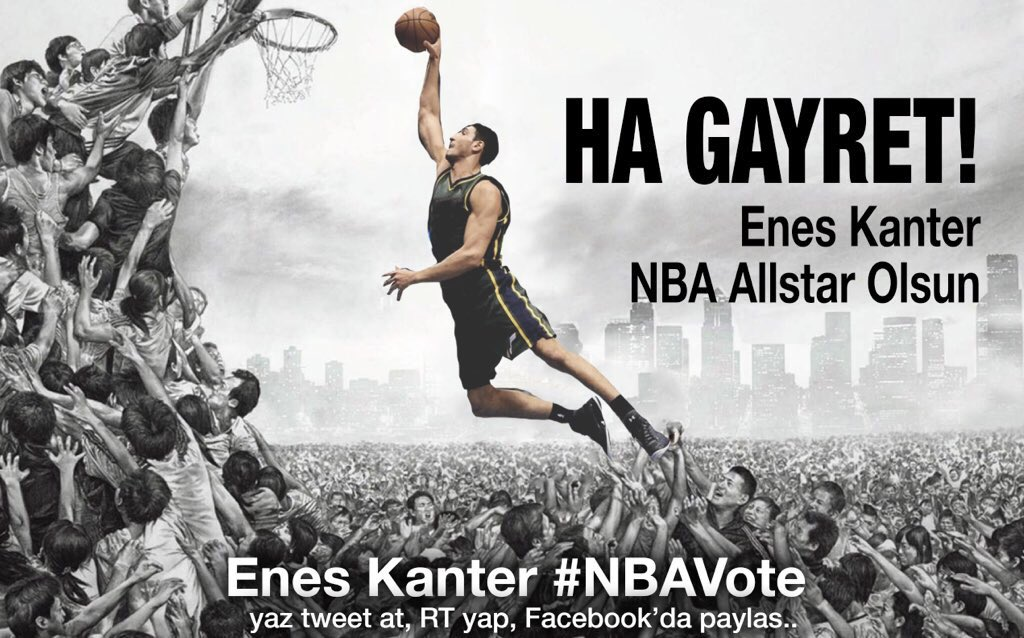 Enes Kanter #NBAVote  @Enes_Kanter   Her RT bir oy! https://t.co/kTMCoFLo5Z