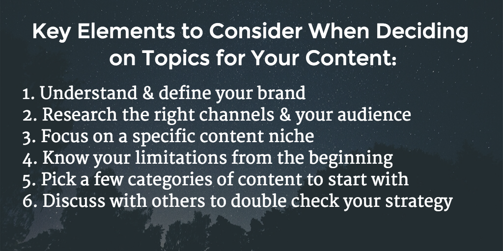 Thumbnail for How to determine topics to cover for your content marketing