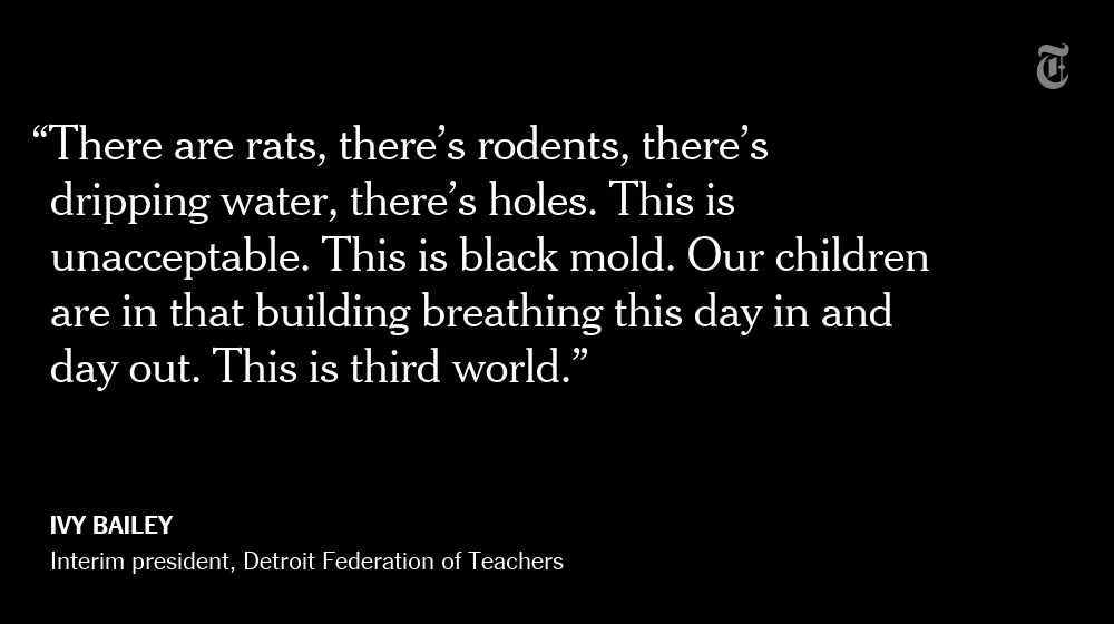 Teachers in Detroit are staging a 'sickout' over school conditions they say are unsafe  https://t.co/juWfN9BrtX https://t.co/TP88uuGbc4