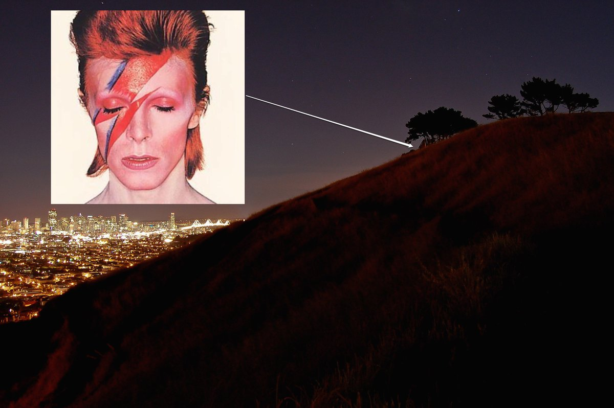 SPECIAL EVENT: Impromptu David Bowie sing-along on Bernal Hill summit, TONIGHT at 8 pm. Spread the word, spacemen! https://t.co/DBISaJ67pL