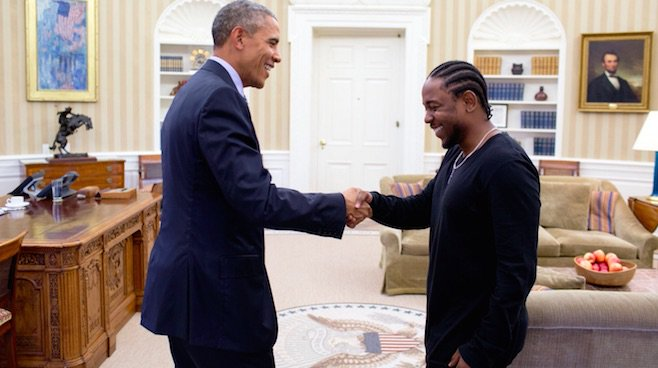 Kendrick Lamar met President Obama at the White House to discuss mentoring. Watch a clip: https://t.co/KBOZcdDQjS https://t.co/1jjhlTdye6