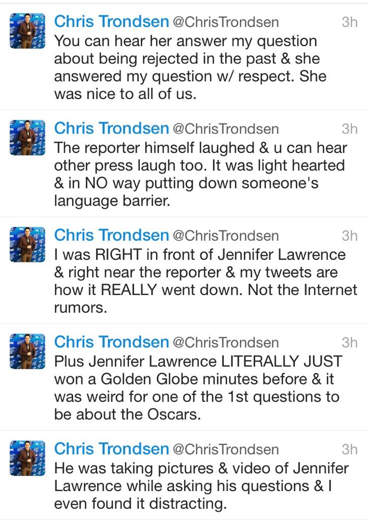 Better not to judge a situation of you weren't there first hand. #JenniferLawrence @ChrisTrondsen thanks for tweets! https://t.co/3CGOl8LhSU
